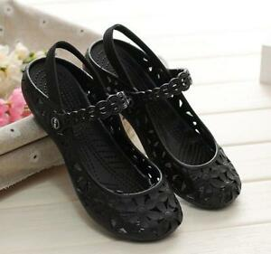 New-Womens-Shoes-Hollow-Out-Sandals-Chic-New-Slip-On-Flats-Beach-Shoes-Summer