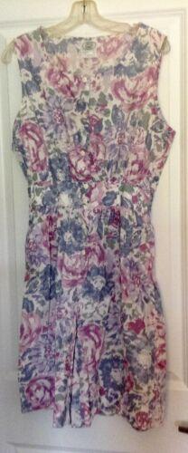 VTG Laura Ashley gray mauve floral short playsuit