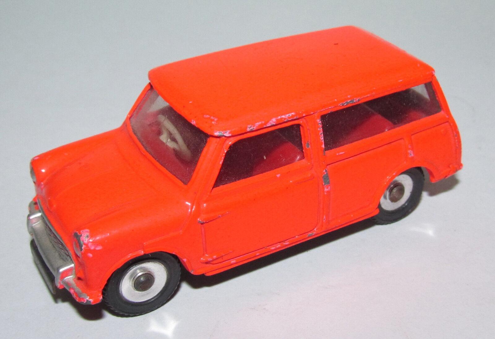 + B dinky toys 199 Austin Seven Countryman Kombi dans de rares Orange Fluorescent