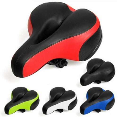 Breathable Bike Seat Large Reflective Shock Absorb Spring Bicycle Saddle ❤