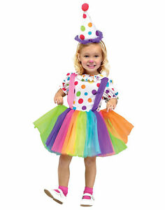 6288c9a6b8 Rainbow Big Top Fun Party Clown Tutu Child Girls Halloween Costume ...
