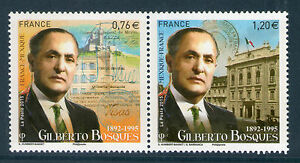 TIMBRES 4970-4971 NEUF XX TTB - GILBERTO BOSQUES - DIPLOMATE MEXICAIN