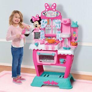 Minnie Mouse Kitchen Play Set Kids Girls Pink Pretend Toys
