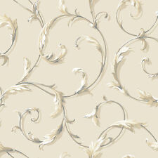 Acanthus Scroll Wallpaper by York  AB1962  per Double Roll  FREE SHIPPING