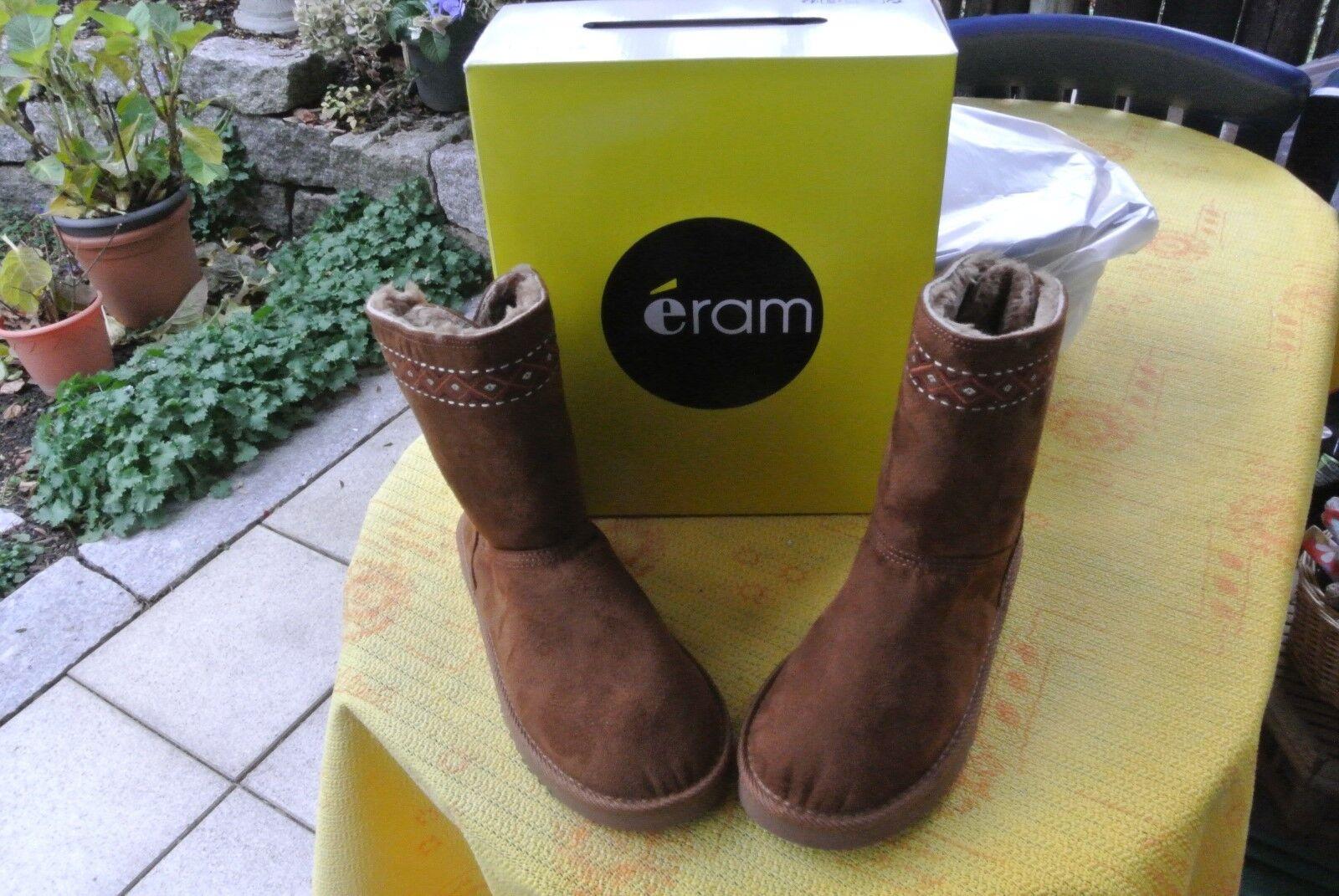 ERAM Damen, Kinder Winter Boots camel mit Warmfutter GR 38 - NEU