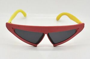 PHI-Sunglasses-Vintage-Red-Yellow-Frames-1989-Taiwan