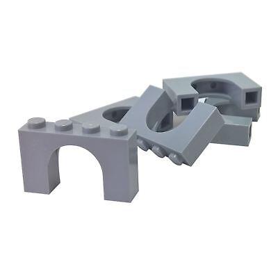 LEGO Lot of 4 Light Bluish Gray 1x4 Arch Brick Parts