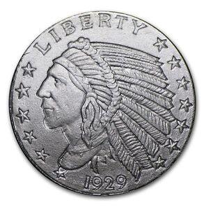 USA-2009-Indian-Chief-Head-999-Fine-Incuse-Silver-Bar-1-10-Std-Oz-UNC