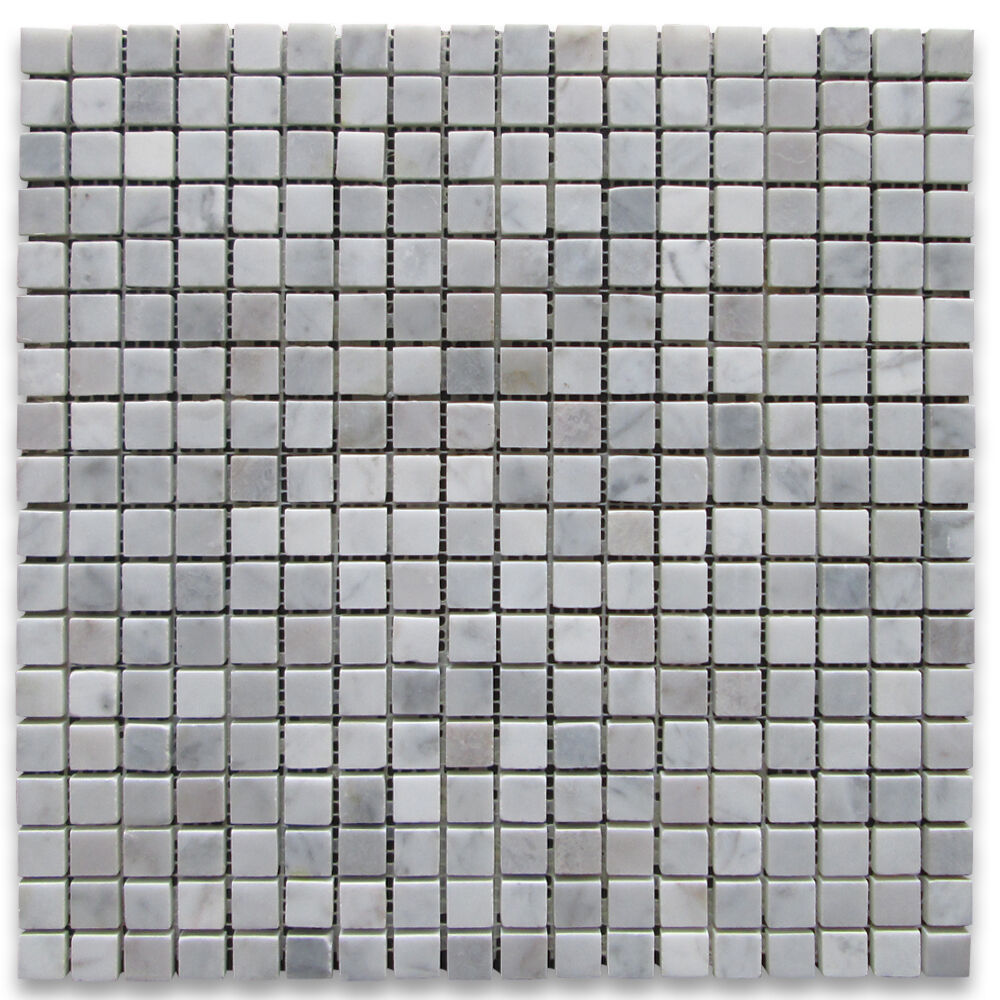 C32XT Carrara Marble 2 inch Hexagon Mosaic Tile Tumbled Non Slip Shower Floor