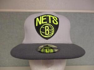 New Brooklyn Nets Mens Sizes 7-1/8 New Era 59Fifty Flatbrim Hat