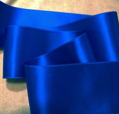 "2-3//4/"" WIDE SWISS DOUBLE FACE SATIN RIBBON SURFSIDE BLUE"