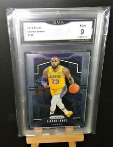 2019-Panini-Prizm-LEBRON-JAMES-129-GMA-Graded-MINT-9-Los-Angeles-Lakers-PSA