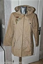 jolie jacket manteau saharienne trench à capuche coton camel IKKS taille M