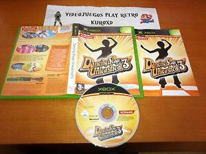 MICROSOFT-XBOX-DANCING-STAGE-UNLEASHED-3-KONAMI-COMPLETO-PAL-ESPANA