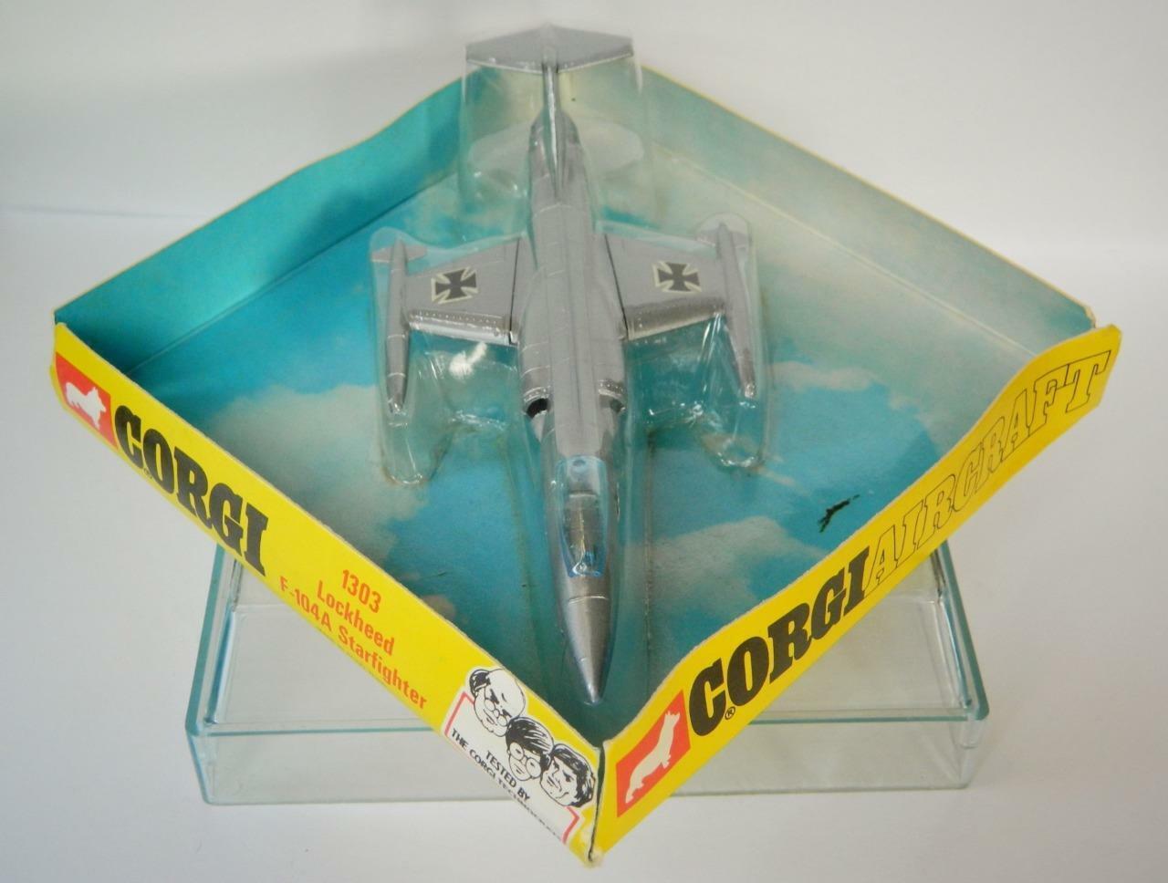 CORGI BOXED DIECAST VINTAGE 1972 No.1303 LOCKHEAD F-104A STARFIGHTER HONG KONG
