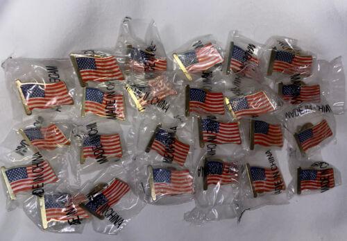 ❤️ USA Flag Pin Lot Set 24 Pieces New