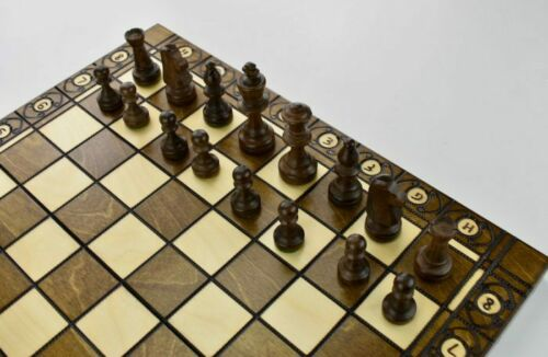 Large Wooden Chess Set Consul 49 x 49 Hand Crafted Woodeeworld