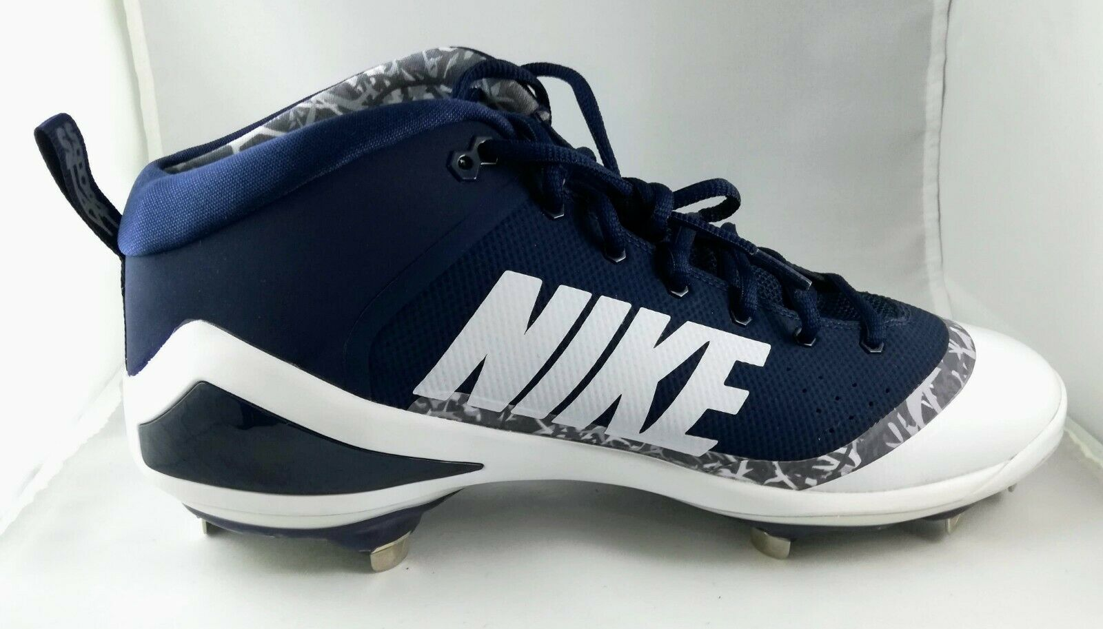 Nike Mens Size 13 Force Zoom Mike Trout 4 Navy Baseball Metal Cleats
