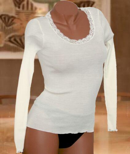 Oscalito 3416 Pull 70 shirt Champagne Encolure Laine Tee 30 Dentelle Soie rzxw16r