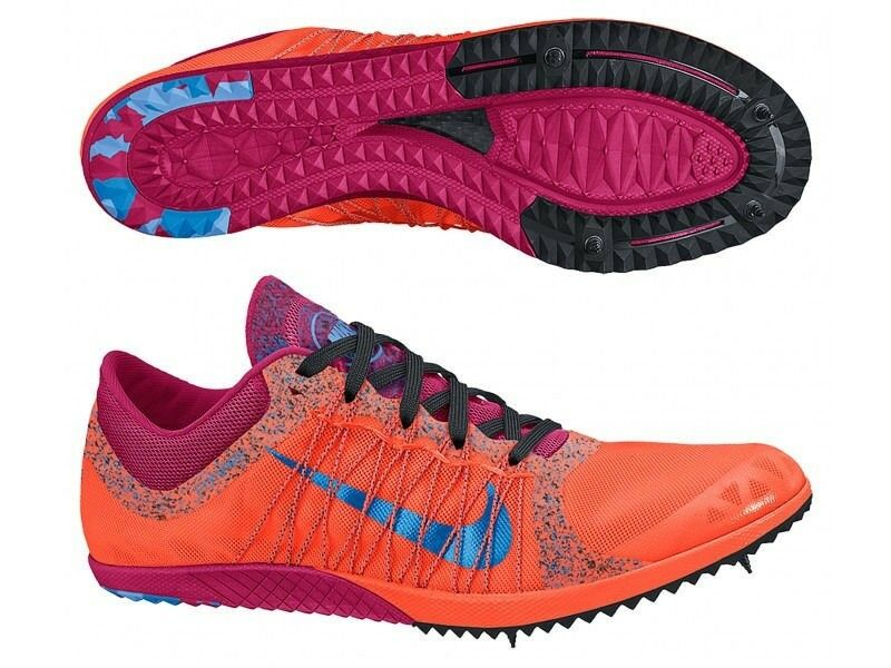 NIKE Zoom Victory XC 3 orange bluee Cross Country Spikes shoes New Mens Sz 5 12.5