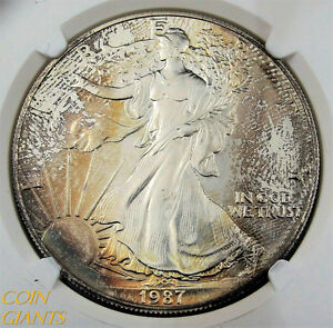 1987 $1 ASE American Silver Eagle NGC MS69