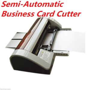 Hot sale semi automatic business card cutter 90 x 50mm ac220v right image is loading hot sale semi automatic business card cutter 90 reheart Image collections