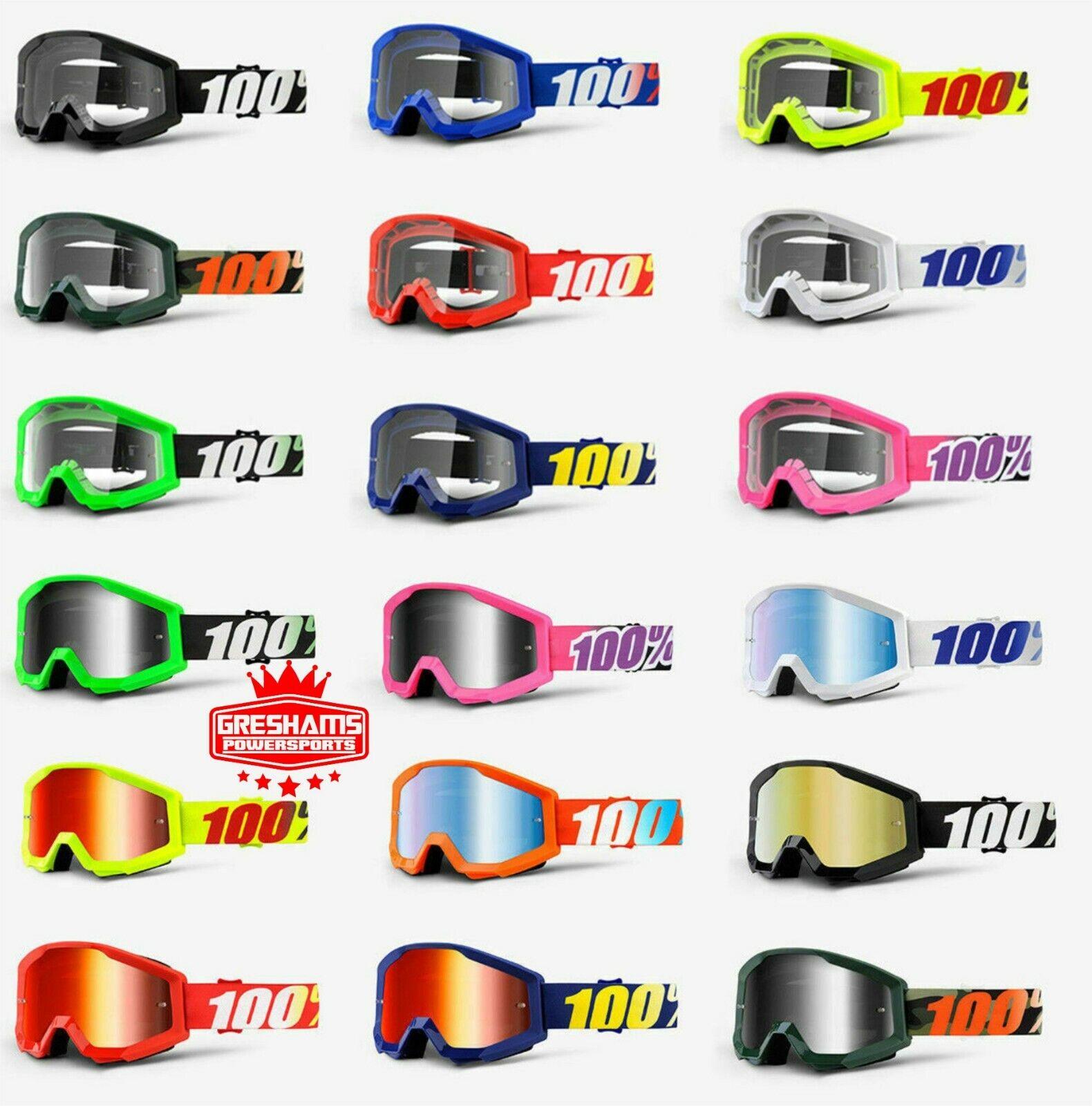 100/% Percent NEW Mx Strata Arkon Clear Lens Motocross Dirt Bike MTB BMX Goggles