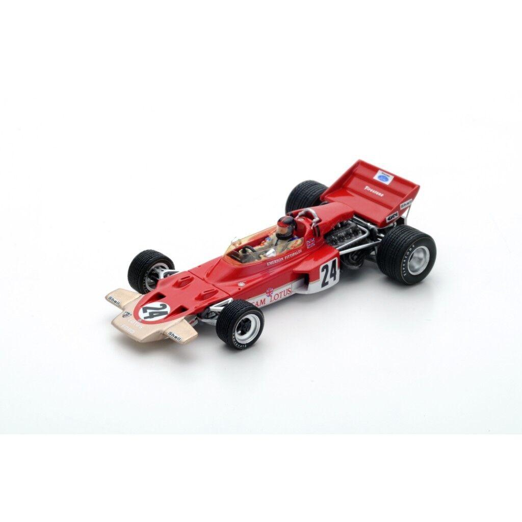1/43 SPARK MODEL LOTUS 72C Winner Us Gp 1970  24 E. Fittipaldi
