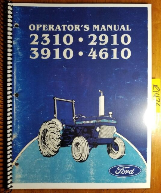 ford     su tractor   owner