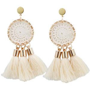 Boho-Stud-Fashion-Bohemian-Earrings-Jewelry-Long-Tassel-Fringe-Women-Drop-Dangle