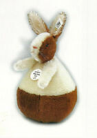 Steiff rolly Polly Rabbit 1909 Ean 402173 Replica Mohair Rabbit-jointed, 2001