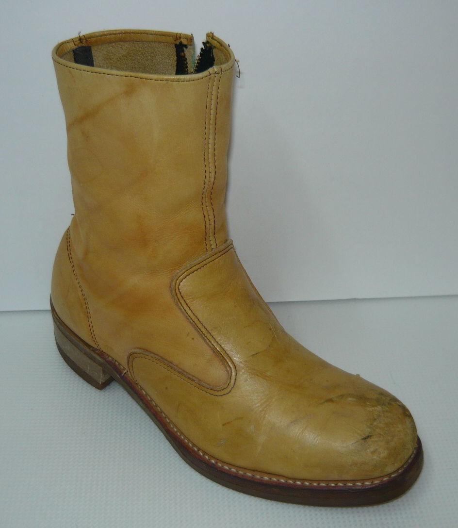 Iron Age Tan Wide Leather 9 Tall Steel Toe Cowboy Work 8.5E