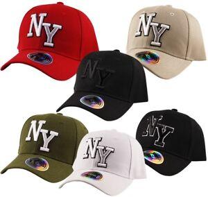 9ddc450156e ITZU CO. NY New York Pre Curved Peak Baseball Cap Adjustable Back ...