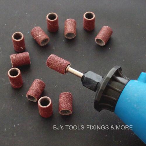 50 Pce petit tambour de Ponçage Kit pour hobby outil rotatif dremel /& bande manches