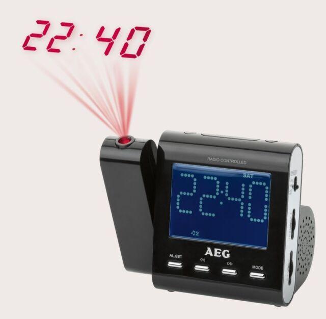 Funk Uhrenradio Projektion Projektor Funkuhr Uhr Radiowecker AEG MRC 43970682