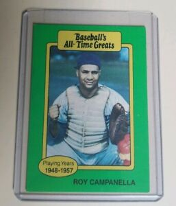 Details About 1987 Baseballs All Time Greats Card Roy Campanella Hof Brooklyn Dodgers