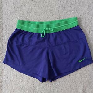 Nike-Women-s-Dri-Fit-Running-Training-Gym-Shorts-Blue-Stretch-Size-S-Small