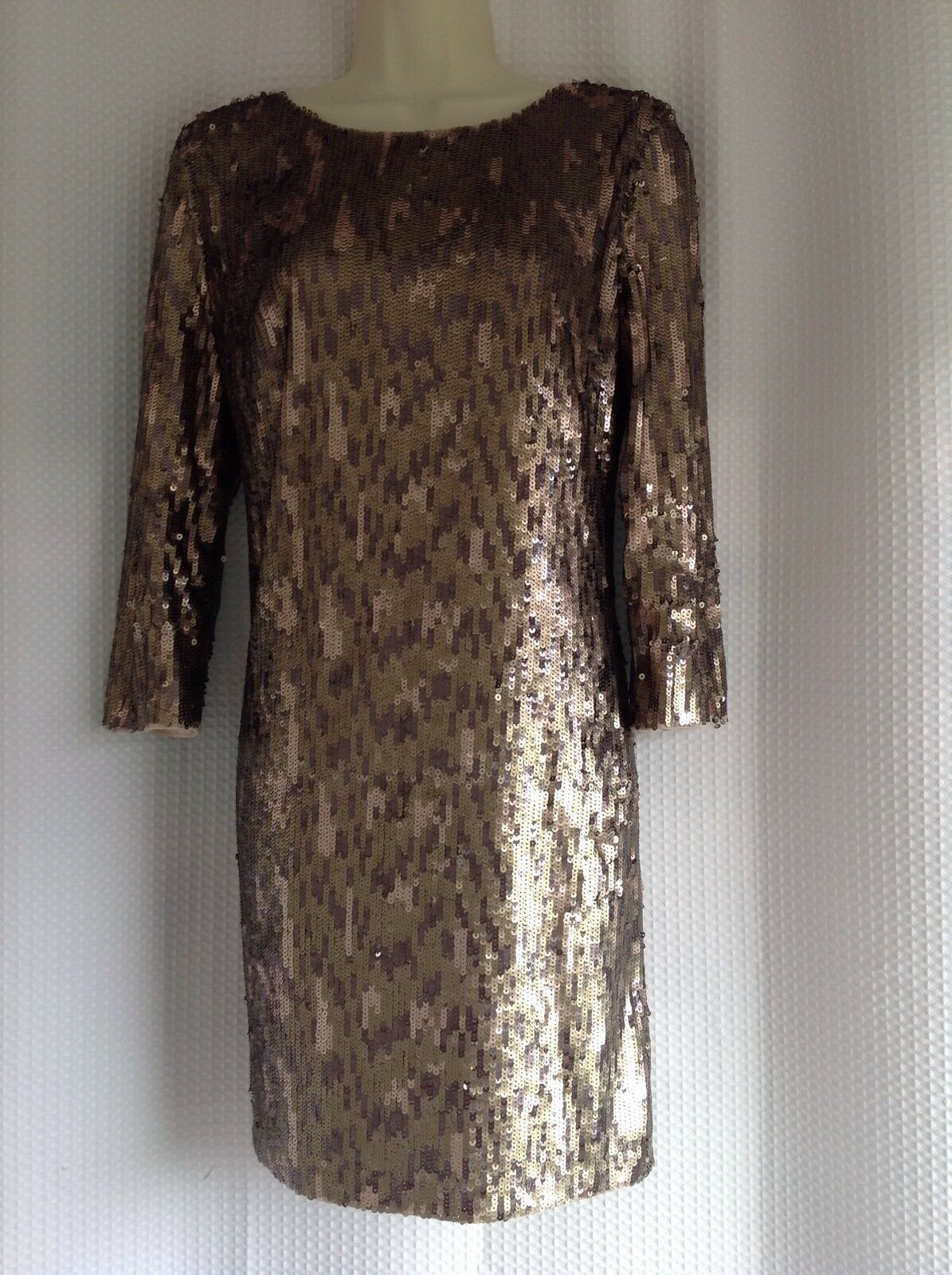 FRENCH CONNECTION STUNNING STUNNING STUNNING SEQUINNED DRESS SIZE 12 5a429e