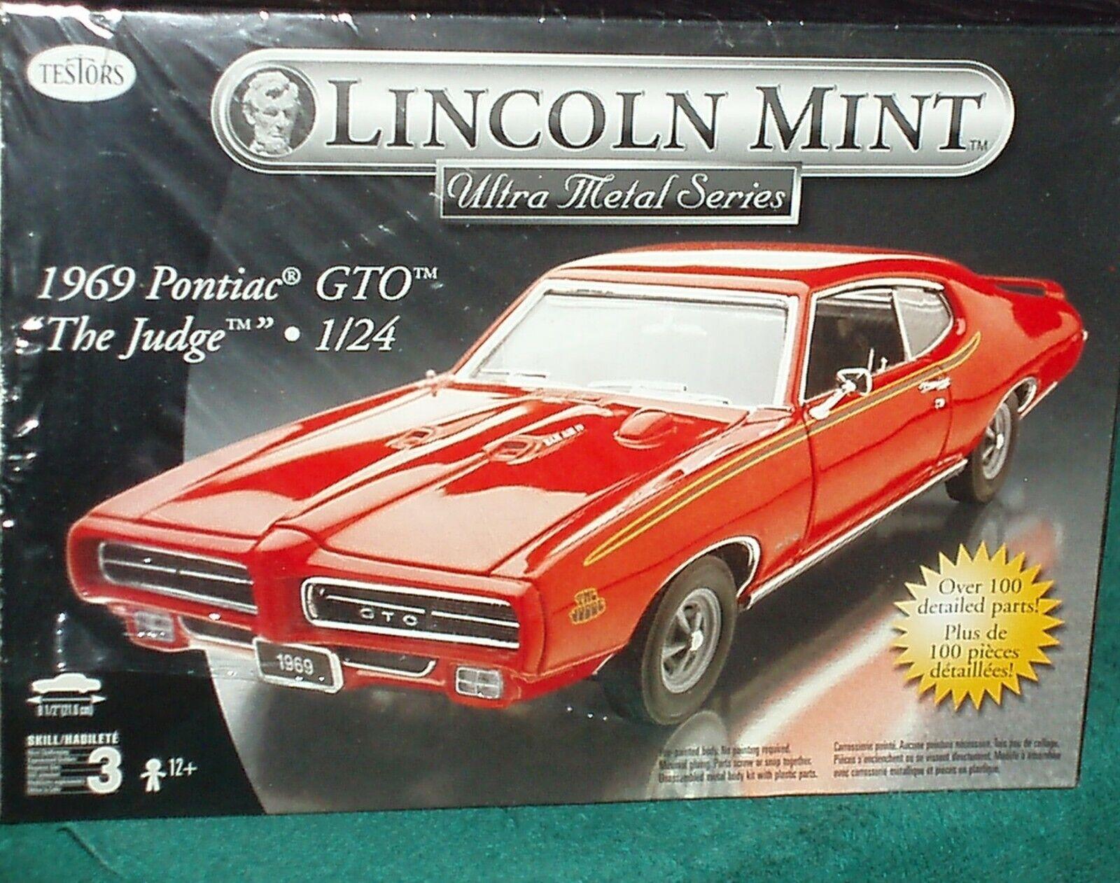 TESTORS LINCOLN MINT 1969 PONTIAC GTO  THE JUDGE  MODEL KIT 1 24 SKILL 3
