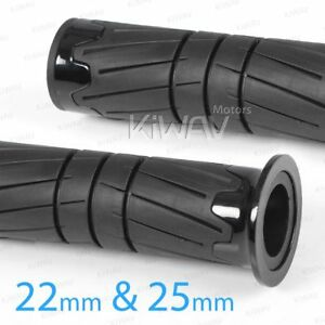 KiWAV-Grip-tire-pattern-black-rubber-anti-slip-22mm-25mm-for-KTM-Buell-Ducati
