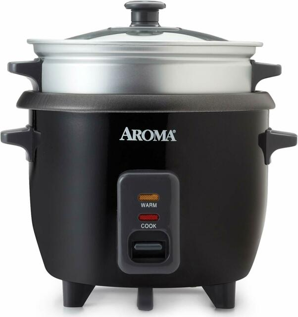 Aroma Housewares ARC-363-1NGB 3 Uncooked/6 Cups Cooked Rice Cooker, Steamer,