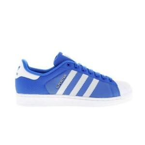 on sale 5896f 14deb ... Hommes-Adidas-Superstar-Bleu-Blanche-Baskets-Style-Decontracte-