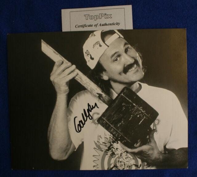 2 Gallagher Autograph ~ Sledge-O-Matic & Square-Wheel ~ Original Prop Comedian