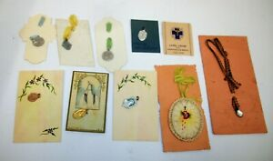 Estate-Lot-of-Religious-Catholic-Medals-on-Cards