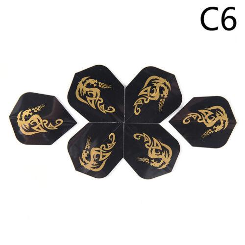6Pcs Darts Flights Wing Dragon Pattern For Professional Darts Wing Tail GL