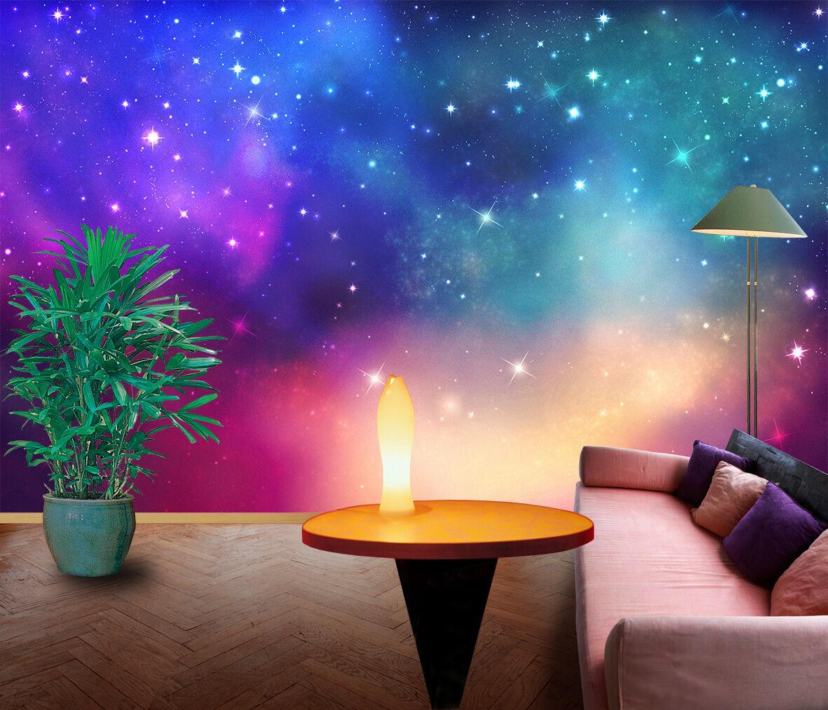 3D Shining Stars 365 Wall Paper Wall Print Decal Wall Deco Indoor AJ Wall Paper