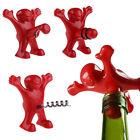 New Bar Red Happy Man Soda Wine Bottle Novelty Opener Stopper Corkscrew Freeship
