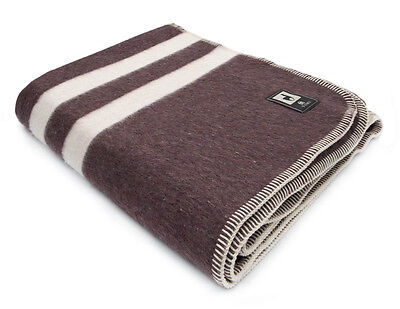 Thick Alpaca Wool Blanket Camping Outdoor Striped Soft Warm Peru King/Queen/Twin
