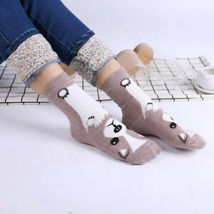 Women-3D-Fashion-Printed-Animal-Casual-Socks-Cute-Dog-Ankle-High-Cotton-Socks
