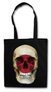 CLASSIC JAPAN SKULL FLAG STOFFTASCHE Flagge Schädel Banner Fahne